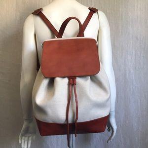 MANSUR GAVRIEL Leather/Canvas Backpack Bag